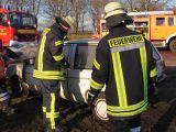 Brand- und Rettungseinsatz an einem alten Polo